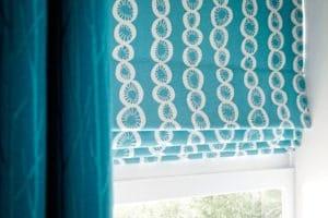 teal roman blinds Musselburgh, Haddington, North Berwick