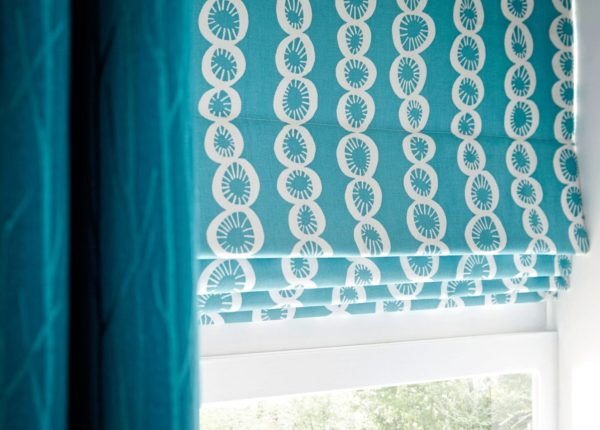 teal roman blinds Musselburgh, Haddington, North Berwick