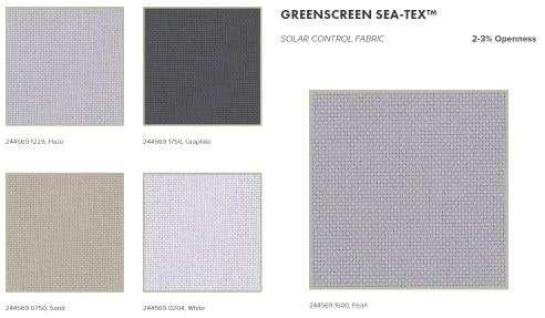 Greenscreen Sea-Tex roller blinds