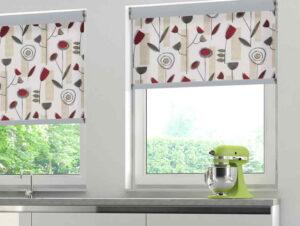 Kitchen roller blinds